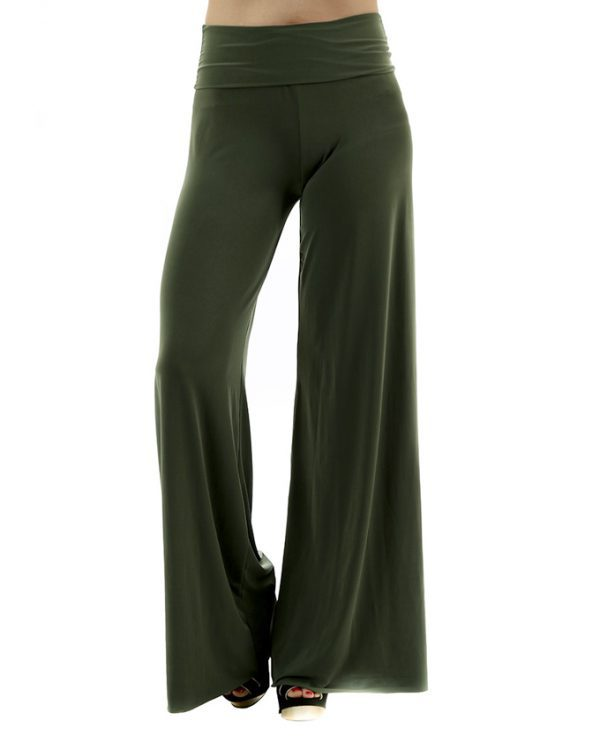 Buy Olive Green Palazzo Pants Order Trousers For Women Online In